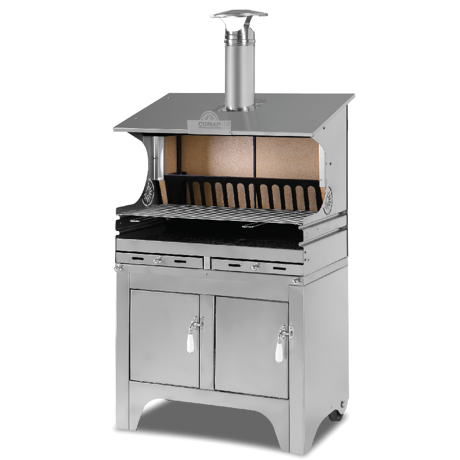 Wood burning comap barbecue